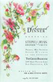 Pean Tendrils and Pinks Invitation