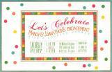Rainbow Dots Invitation