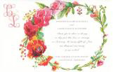 Rose Ring Floral Invitation