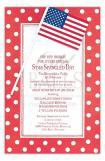 Hokie Pokie Flags Patriotic July Party Invitations