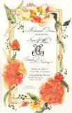 Eucalyptus and Apricot Invitation