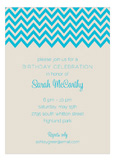 Ocean Chevron Invitation