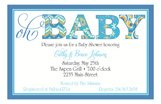 Oh Baby Blue Invitation