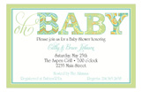 Oh Baby Green Invitation