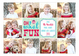Oh What Fun Ornament Collage Photo Card
