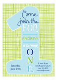 One Fun Blue Invitation