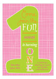 One Fun Pink Invitation