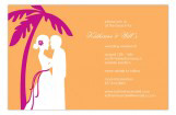 Orange Coastal Couple Invitation