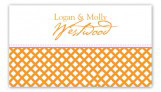 Orange Garden Trellis Calling Card