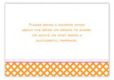 Orange Garden Trellis Enclosure Card