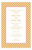 Orange Garden Trellis Invitation