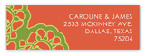 Orange Vintage Lace Fiesta Address Label