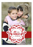 Ornamental Frame Red Photo Card