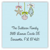 Ornamental Seashells Square Sticker