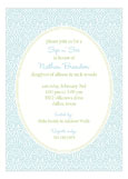 Ornate Floral Blue Invitation