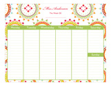 Ornate Wreaths Calendar Pad