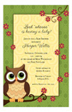 Owl with Flowers Invitation