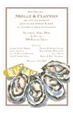 Seafood Oysters Rehearsal Dinner Invitations