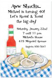 Aw Shucks Oysters Birthday Invitations