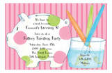 Paint a Pig Invitation