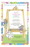 Art Asel Painting Party Invitation
