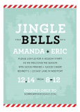 Pale Blue Jingle Your Bells Invitation