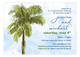 Palm Tree Watercolor Invitation
