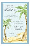 Palms On The Beach Hawaiian Luau Invitations