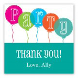 Party Balloons Square Sticker