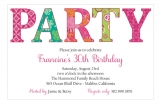 Party Hottie Patterns Invitation