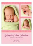 Passion Vine Damask Pink Photo Card