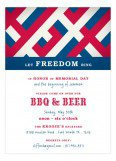 Patriotic Criss Cross Invitation