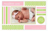 Pattern Blocks Pink Photo Card