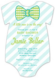 Pattern Cutie Onesie Bow Tie Baby Shower Invitation
