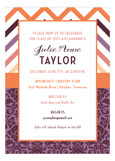 Patterned Grad Invitation