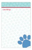 Paw Print Notepad Dog Stationery