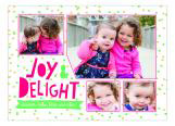 Joy and Delight Holiday Photo Card