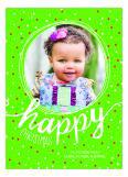Happy Christmas Dots Holiday Photo Card