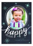 Happy Holidays Snowflakes Photo Card