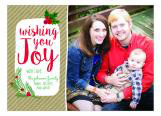 Kraft Wishing You Joy Holiday Photo Card