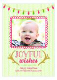 Joyful Wishes Holiday Photo Card