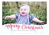 Merry Christmas Snowflakes Photo Card