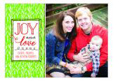 Joy and Love Holiday Photo Card