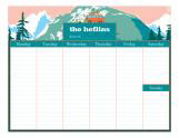 Mountain Family Calendar Pad
