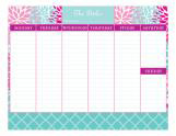 Flower Power Calendar Pad