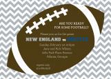 Silver Chevron Tailgate Football Party Invitation