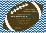 Blue Chevron Tailgate Football Party