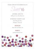 Marsala Confetti Party Invitation