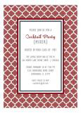 Marsala Trellis Party Invitation