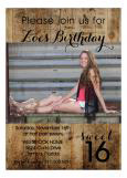 Western Sweet 16 Party Invitation